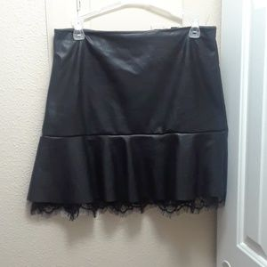 Forever 21 faux leather shirt